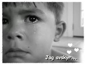 ledsen pojke