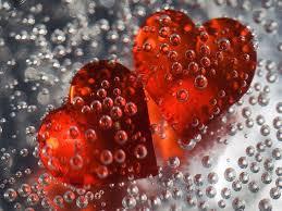 droppar och hjärtan