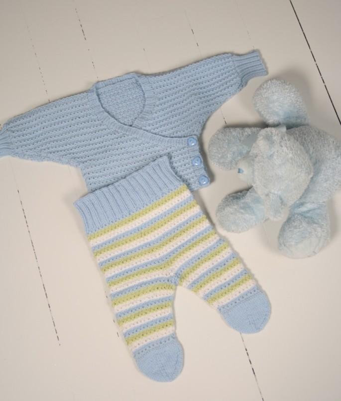 blått babyset